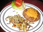 Vegan Patties and Basil Fries