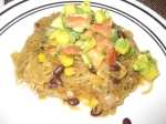 Spaghetti Squash Mexicana With Tropical Avocado Salsa Fresca